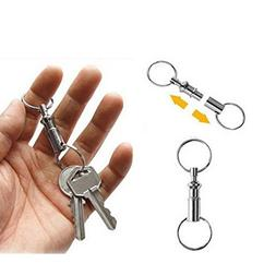 Stablebusi Switch Key Rings Double-head Detachable Outdoor C