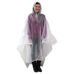 Stansport Kid's Peva Vinyl Poncho, Clear, 45x72-Inch