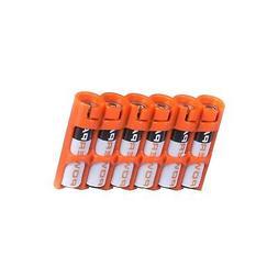 Storacell by Powerpax SlimLine AAA Battery Caddy, Orange, Ho