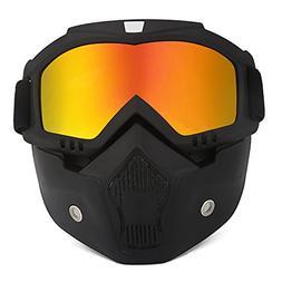 ThyWay Anti-Fog Windproof Motorcycle Goggles Riding Detachab