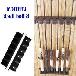 Vertical Rod Rack - Black Boat Rod Rack Fishing Gear Stores
