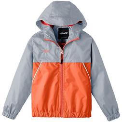 Wantdo Boy's Ultra Light Rain Jacket Outdoor Windcheater Zip