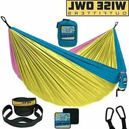 Wise Owl Outfitters Camping Hammock with Tree Straps Premium