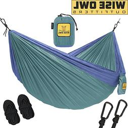 Wise Owl Outfitters Hammock Camping Double & Single Tree Ham