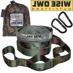 Wise Owl Outfitters Talon Hammock Straps - Combined 20 Ft Lo