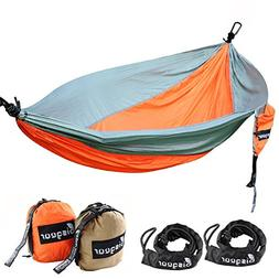 Double Hammock Lightweight Portable Hiking Tree Bed Bisgear