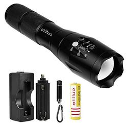 Outlite High Lumens Led Flashlights, Rechargeable Battery an