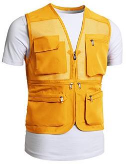 H2H Mens Active Safari Lightweight Fishing/Sporting Vest Yel