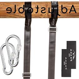 Extra Long Adjustable Tree Swing Straps Hanging Kit - Safe H