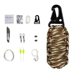 Alfresco Endurance Outfit - 16pcs Outdoor Paracord Kit Survi