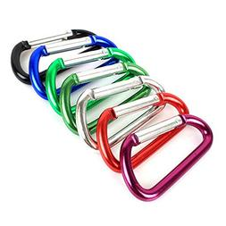 "Aluminum Carabiner 2.3""/6cm D Shaped Screw Lock Carabiner Ho"
