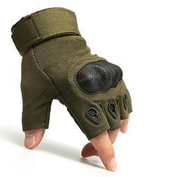 AV SUPPLY Anti-slip Fingerless Tactical Gloves Foam Protecti