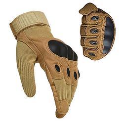 1 Pair Anti-Slip Military Full Finger Tactical Gloves Hard K