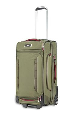 """High Sierra AT8 26"""" Wheeled Duffel Upright, Olive/Cranberry,"""