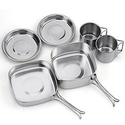 TAFOND Backpacking Camping Cookware Picnic Stainless Steel C
