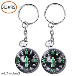 2 Pack Ball Compass Keychain Liquid Filled Compass for Excur