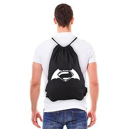 Batman V Superman Logo Eco-Friendly Reusable Drawstring Bag