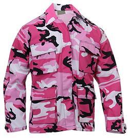 Rothco Color BDU Shirt, Pink Camo, Medium