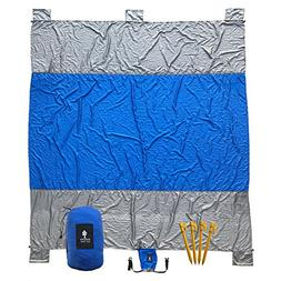 Sequoia Sun Gear Beach Blanket - Large 9' x 7' Oversized Out