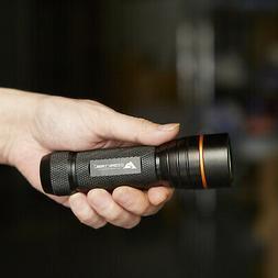 Black LED Flashlight 400 Lumens Durable Outdoor Hiking Trail