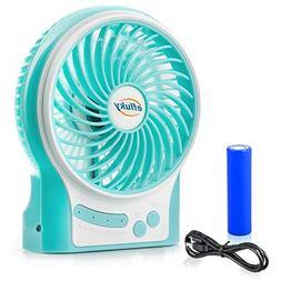 efluky 3 Speed Mini Portable Fan, Mini Handheld Fan Electric