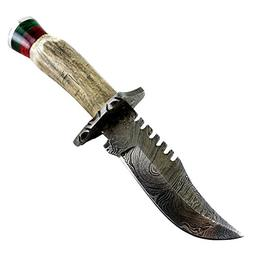 bone edge damascus blade hunting