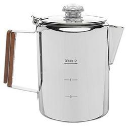 Coletti Bozeman Percolator Coffee Pot 9 Cup Stainless Steel