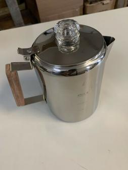 """Coletti """"Bozeman"""" Percolator Coffee Pot - 9 CUP Stainless St"""