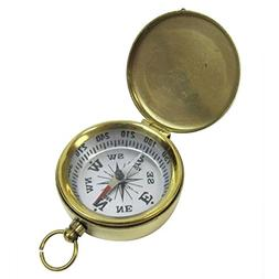 Armor Venue Brass Pocket Compass, White Dial, with Lid Outdo