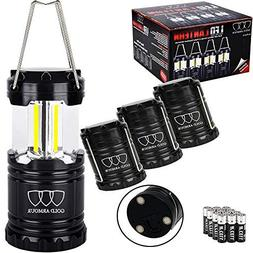 Gold Armour 4Pack Portable LED Camping Lantern  LED Lantern