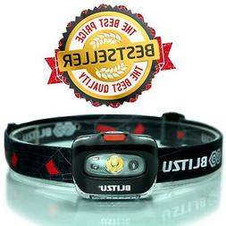 BLITZU Headlamp Flashlight 165 Lumen. Bright Spot White Cree