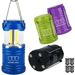 Gold Armour Brightest LED Lantern 4Pack - Camping Lantern  -