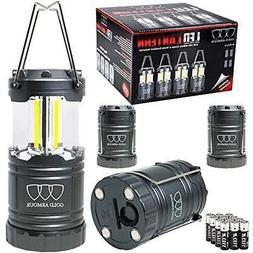Gold Armour Brightest LED Lantern - Camping 4Pack Gear Equip