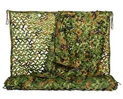 NINAT Camo Netting 6.5x10ft Woodland Camouflage Net for Camp