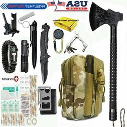 Camping Axe Survival Gear Kit Set First Aid Tactical Emergen