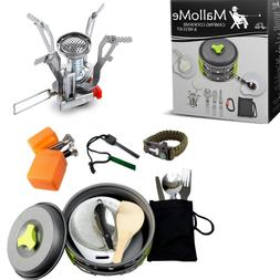 Camping Cooking Equipment Gear Cookware Set Backpack Outdoor