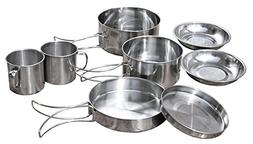 Gracefulvara 9 Pcs Outdoor Camping Cooking Picnic Pot Pan Pl