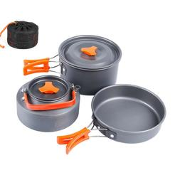 Camping Cookware Backpacking Gear Outdoor Cooking Mess Kit 3