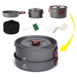 CAMEL CROWN Camping Cookware Kit Outdoor Portable Camp Cooks