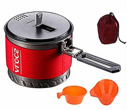Camping Cookware Kit for 1to 2 People - 4-In-1 Portable Camp