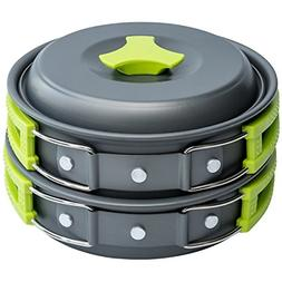 Camping Cookware Mess Kit Backpacking Gear & Hiking Outdoo..