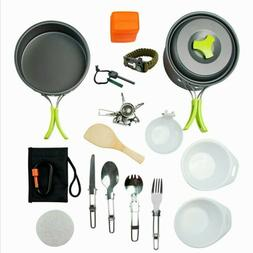 MalloMe Camping Cookware Mess Kit Backpacking Gear&Hiking Ou
