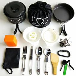 Camping Cookware Mess Kit Backpacking Gear Hiking Outdoors B