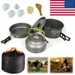 Camping Cookware Mess Kit Cookset Camp Kit Outdoor Gear Comp