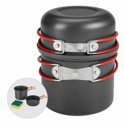 Bulin Camping Cookware Mess Kit, Outdoor Cook Gear for Famil