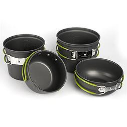 MALEDEN Camping Cookware Set, Lightweight Compact Durable Ou