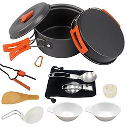 Camping Cookware Set Hiking backpacking Gear & Camping Cooki