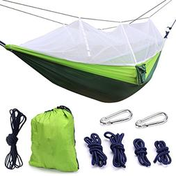 Camping Hammock, Trofoty Portable Hammock with Mosquito Net