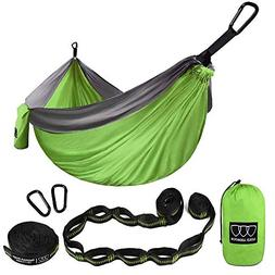 Gold Armour Camping Hammock - USA Brand Single Parachute Ham