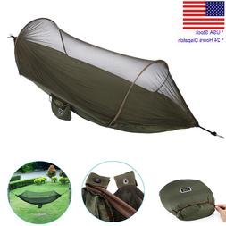 Camping Hammock with Mosquito Net Portable Hiking Swing Hang